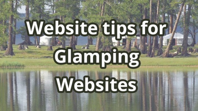 Website tips for Glampsite owners
