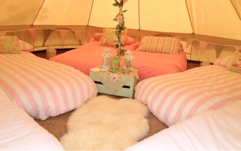 Quirky And Unique Bell Tent Hire With Honeybells Based In Dorset